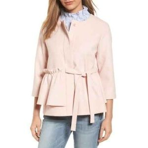 Halogen Soft Ruffle Jacket Pink Bloggers Pick Sz M